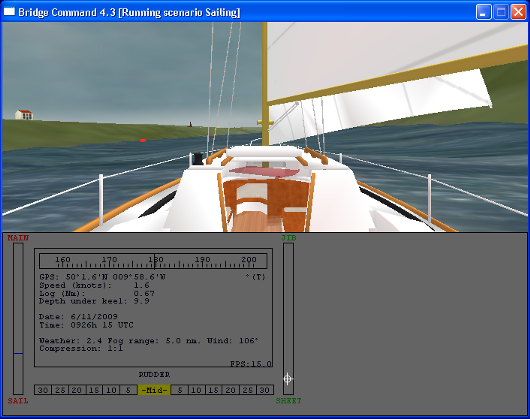 Work in progress on sailing simulation\